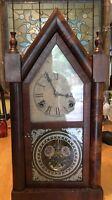 19th Century Wooden Clock