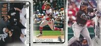Yoan Moncada lot of 3 diferent 2020 Topps Chicago White Sox baseball Cards