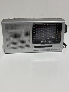 No 1 Hi-Fi 12 Band Portable Radio FM/TV/AM/SW1-9 Receiver Tuning Broke S1