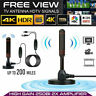 200Mile HDTV Antenna Aerial HD Digital TV Signal Amplifier Booster Indoor Cable.