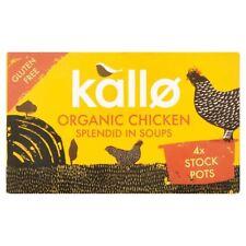 Kallo Organic Chicken Stock Pots - Gluten Free 4x96g