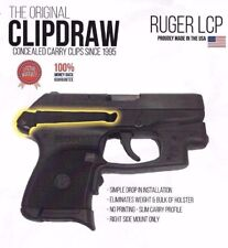 Clipdraw Belt Clip for Ruger LCP 1 One 380 IWB OWB Black - Right Mount - Holster