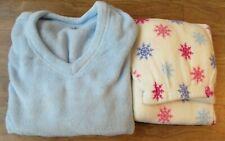 209dc1570241 PINK Women's 2 Piece Pajama, Blue White Snowflakes, Size Large, ...