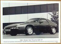 PORSCHE 928 GT PRESS PHOTOGRAPH CIRCA 1991 BLACK & WHITE