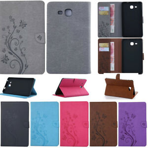 For Samsung Galaxy Tab A E S2 4 PU Leather Smart Case Cover Card Wallet Stand