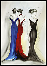 Athena Schenk elegance and fashion 1 Poster Picture Art Print & Aluminium Frame 100x70cm