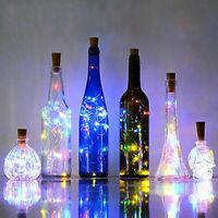 LED Light Wine Bottle Copper Wire String light bulb Cork Festival Party Decor RK