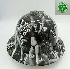 Hard Hat Full Brim Custom Hydro Dipped Osha Approved Biker Babes Wow