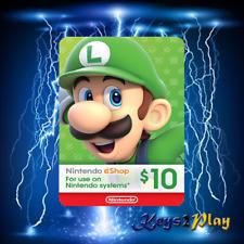 Nintendo Eshop Card $10 USD ⚡ DIGITAL CODE ⚡