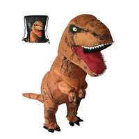 Adults Child T-REX Inflatable Dinosaur Costume Jurassic Halloween Blowup Outfit