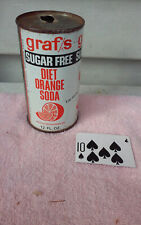 GRAF'S DIET ORANGE SUGAR FREE JUICE TAB STRAIGHT STEEL  SODA CAN CANS SHED T