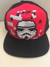 Star Wars Boys Storm Trooper Flat Brim Cap, Red, One Size