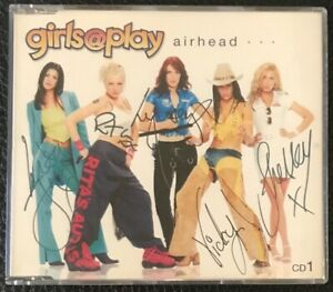 GIRLS @ PLAY - AIRHEAD - 2 TRACK CD SINGLE SIGNED BY ALL THE BAND SEE PICTURES