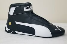 Puma Ferrari Men's Shoes SF-R Cat Mid  Black/White Size 9.5  NEW WITH BOX
