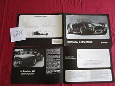 N°4764 / dépliant A.C. COBRA / Replica industrie Suresnes France