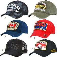 BRAND NEW DSQUARED2 CAP ICON DSQICOND2 BLACK CAPS SNAPBACKS BASEBALL CAP HAT UK