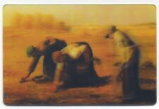 3-D Postcard The GLEANERS by Jean Francois Millet New 3D Lenticular Postcard