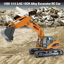 HuiNa Toys 1550 1/14 2.4GHz 15CH Alloy Excavator Engineering Vehicle RC Car Toys