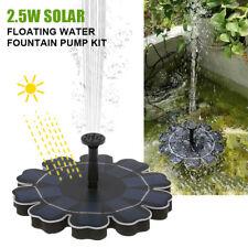 Kit de bomba de fuente de agua flotante solar 2.5W para estanque piscina jardín