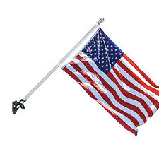 5ft Tangle-free Spinning Stainless Flag Pole & 3x5ft American Flag