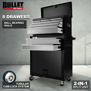 【EXTRA20%OFF】BULLET 8 Drawer Tool Box Cabinet Chest Storage Toolbox Garage