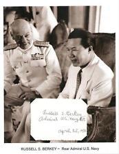 Russell S Berkey Autograph Rear Admiral Navy USS Phoenix Santa Fe Panay NY #1