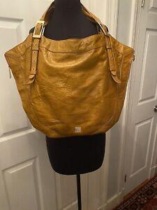 KOOBA Tam  Crinkle  Leather Shoulder Bag Tote Purse 3 Sep Top Compartments Xl