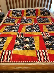 Custom, Handmade Patriotic Navy Themed Twin Toddler Throw  Patchwork Quilt