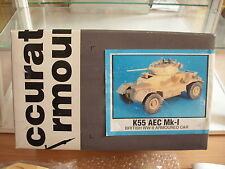 Model Resin Kit Accurate Armour K55 AEC MK-1 Armoured Car on 1:35 in Box