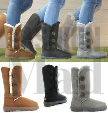 Womens Ladies Faux Fur Warm Winter Boots UK Sizes Leah Size 9 Solid Sole