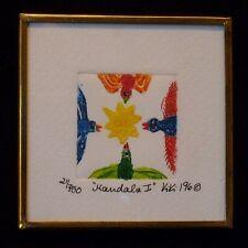 """Signed KIKI Suarez Etching """"Mandala I"""" 1996 750 ed.  CHARMING!"""