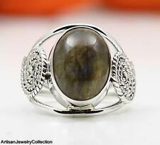 LABRADORITE & 925 STERLING SILVER RING JEWELRY SIZE 8  Y930A