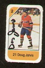 Doug Jarvis signed autograph auto 1982-83 Post Cereal NHL Hockey Card