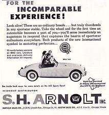 1960 MGA 1600 - S.H. ARNOLT  ~  VINTAGE ORIGINAL SMALLER PRINT AD