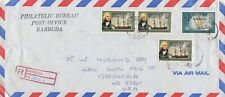 Barbuda- 1973 4 Overprinted Antigua Ship Definitives Registered Air Mail Cover