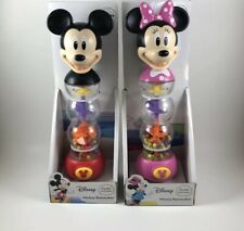 Mickey & Minnie Mouse Disney Rainmaker Light Up Color Change Rattles 18m+ NEW