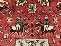 9x12 HANDMADE WOOL RUG HUNTING HAND-KNOTTED WOOL oriental handwoven pictorial