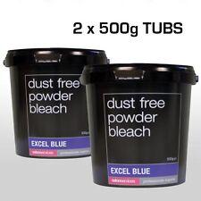 SALON SERVICES EXCEL DUST FREE BLUE POWDER BLEACH 2 x 500G twin pack