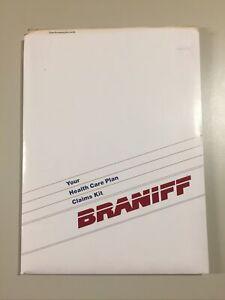 Vintage Braniff International Airways Employee Benefits Packet Folder Contents
