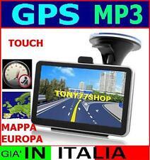 NAVIGATORE GPS SATELLITARE+MAPPA ITALIA EUROPA AUTOVELOX TOUCHSCREEN TABLET AUTO