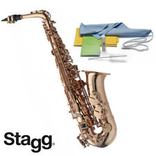 Stagg LV-AS4105 Alto High Pro Series Saxophone Gold Laquer + Case, Cleaning Kit