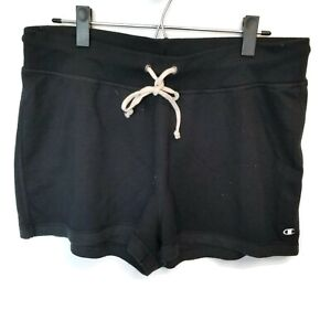 "Champion Black Athletic Casual Lounge Gym Sweat Shorts 2"" inseam Womens Sz XL"