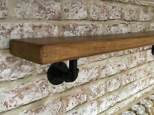 Reclaimed Chunky Wooden Industrial Iron Steampunk Loft Style Shelf. Spice Rack