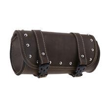 Leather Motorcycle Luggage Windshield Tool Kit Bag Riding/Storage Bag Brown
