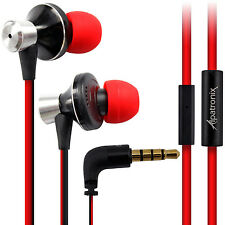 High Performance Universal In-Ear Headset W/Mic and 1 Button Control Tangle-Free