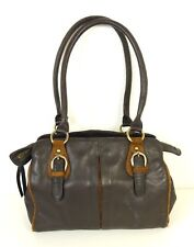 CLARKS Schultertasche Bag Leder Leather Dunkelbraun Sac (H44)