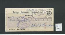 wbc. - CHEQUE FORM - USED - 1970's -CHQ10-  BELFAST BANKING CO LTD - BANBRIDGE