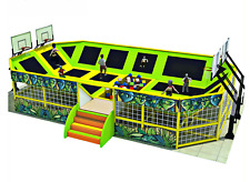 1,600 sqft Commercial Trampoline Park Dodgeball Climb Gym Inflatable We Finance
