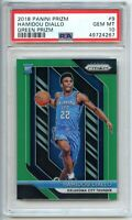 2018-19 Panini Prizm HAMIDOU DIALLO Green Prizm Rookie Card PSA 10 Gem Mint!