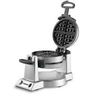 Cuisinart Double Belgian Waffle Maker Round Stainless Steel Breakfast Machine